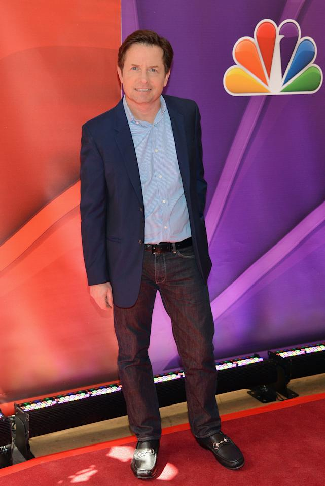 NEW YORK, NY - MAY 13:  Actor Michael J. Fox attends 2013 NBC Upfront Presentation Red Carpet Event at Radio City Music Hall on May 13, 2013 in New York City.  (Photo by Slaven Vlasic/Getty Images)