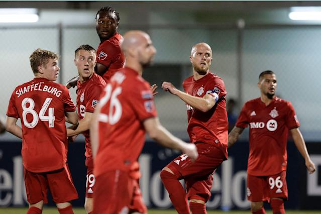 "After an eventful offseason, <a class=""link rapid-noclick-resp"" href=""/soccer/teams/toronto-fc/"" data-ylk=""slk:Toronto FC"">Toronto FC</a> kicks of MLS 2019 in a firm state of flux. (AP)"