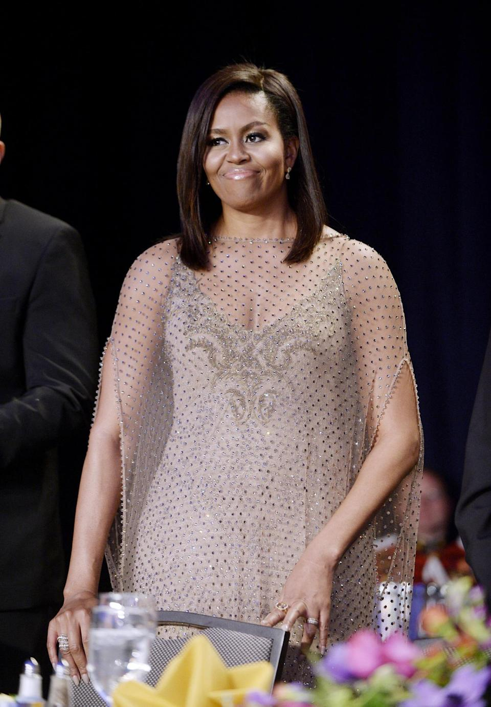 <p>For President Obama's eighth and final White House Correspondents' Association dinner, Michelle Obama went all out. The first lady killed it in Givenchy couture, giving the models and movie stars in attendance a run for their money. <i>(Photo: Getty Images)</i></p>