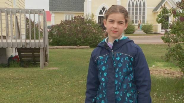 Keira Dionne-Arsenault, a student at École Saint-Augustin in South Rustico, says it meant a lot to her to visit Lennox Island just days after news that the remains of over 200 children had been found at a former residential school in Kamloops.
