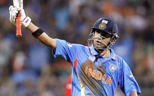 Gambhir was one of the stars in the World Cup final