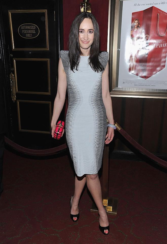 """Author <a href=""""http://movies.yahoo.com/movie/contributor/1808765741"""">Sophie Kinsella</a> at the New York premiere of <a href=""""http://movies.yahoo.com/movie/1809973783/info"""">Confessions of a Shopaholic</a> - 02/05/2009"""