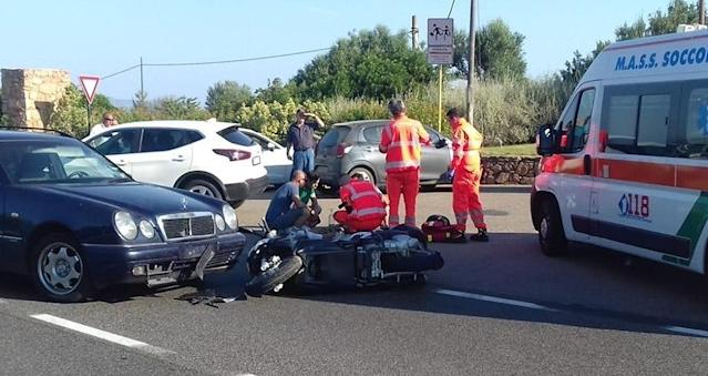 George Clooney was rushed to the hospital after crashing his motorbike in Sardinia, Italy. (Photo: Ciaopix/Frezza Lafata/Backgrid)