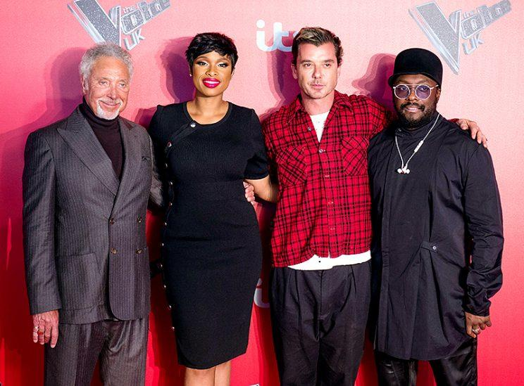 Judges Tom Jones, Jennifer Hudson, Gavin Rossdale, and will.i.am appeared together to promote The Voice UK in London. Both J.Hud and Bush rocker Rossdale will judge the show for the first time when it premieres in the U.K. on Jan. 7. (Photo: Jeff Spicer/Getty Images)
