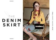 <p>You have the jeans all figured out but denim comes in skirt form too! This fall, embroidery is the key to updating your denim skirt—Gucci established the trend. </p>