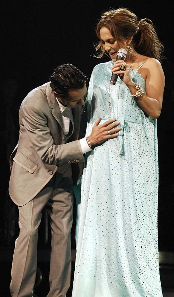"In one of the least surprising announcements of the year, Jennifer Lopez revealed to concertgoers in Miami that she is pregnant. Lopez and husband Marc Anthony are reportedly expecting twins. Kevin Mazur/<a href=""http://www.wireimage.com"" target=""new"">WireImage.com</a> - November 7, 2007"