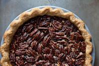 """<p>This is a pecan pie that's taken a little walk on the wild side and it's delicious. In addition to using maple syrup instead of the more traditional corn syrup, the filling is infused with star anise and a little rum. <a href=""""http://food52.com/recipes/15023-spiced-maple-pecan-pie-with-star-anise"""" rel=""""nofollow noopener"""" target=""""_blank"""" data-ylk=""""slk:Get the recipe for Spiced Maple Pecan Pie with Star Anise at Food52."""" class=""""link rapid-noclick-resp""""><b>Get the recipe for Spiced Maple Pecan Pie with Star Anise at Food52</b>.</a> (<i>Photo: James Ransom/Food52)</i></p>"""