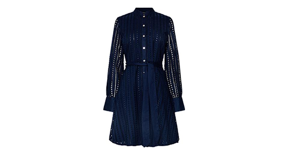 Cotton Broderie Shirt Dress
