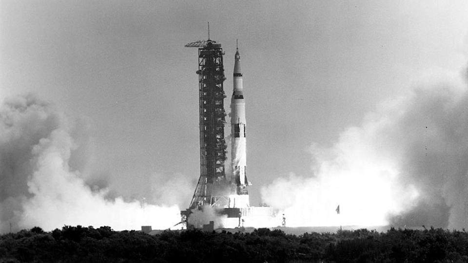 At 9:32 a.m. EDT, July 16, 1969, Apollo 11 launched from Florida on a mission to the Moon. (Photo: NASA)