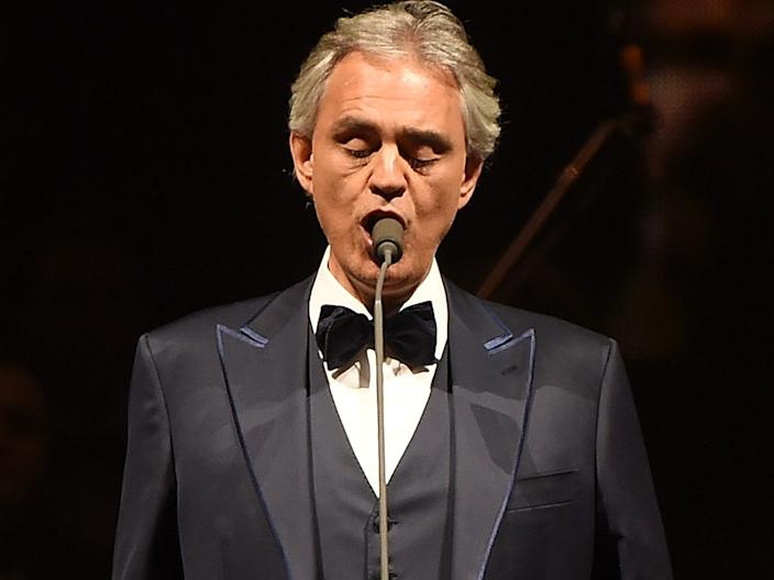 "Andrea Bocelli tested positive for the novel coronavirus. <p class=""copyright"">Michael Loccisano/Getty Images</p>"