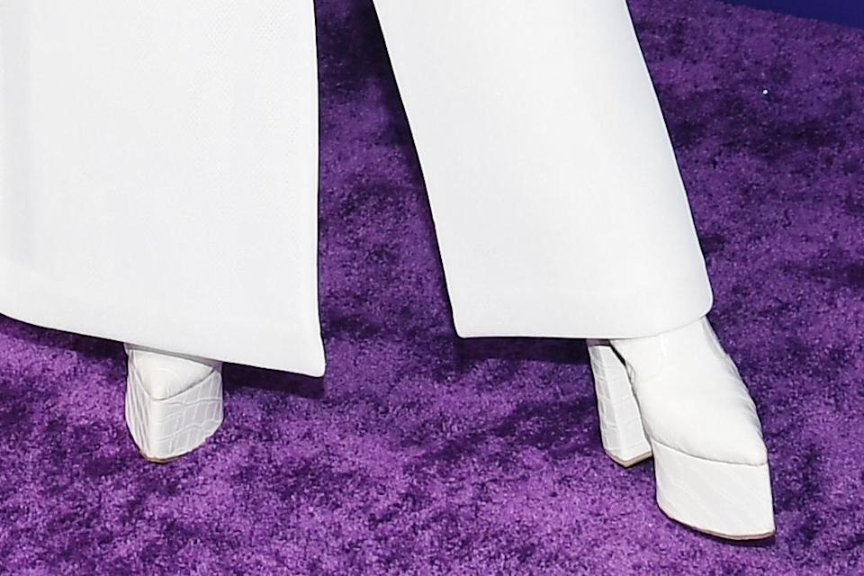A closer view of Billy Porter's boots. - Credit: Michael Buckner for PMC
