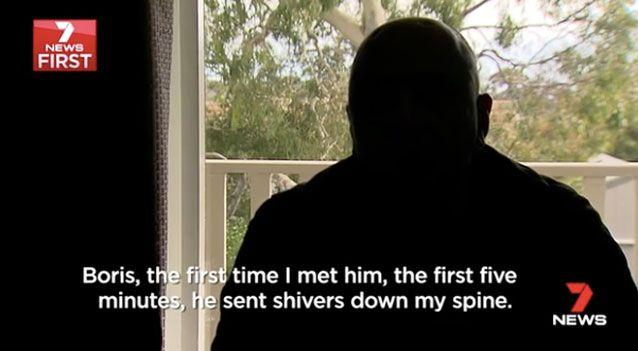 The man, who chose to remain anonymous, was unnerved by Mr Ristevski. Photo: 7 News