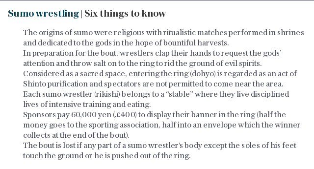 Sumo wrestling | Six things to know