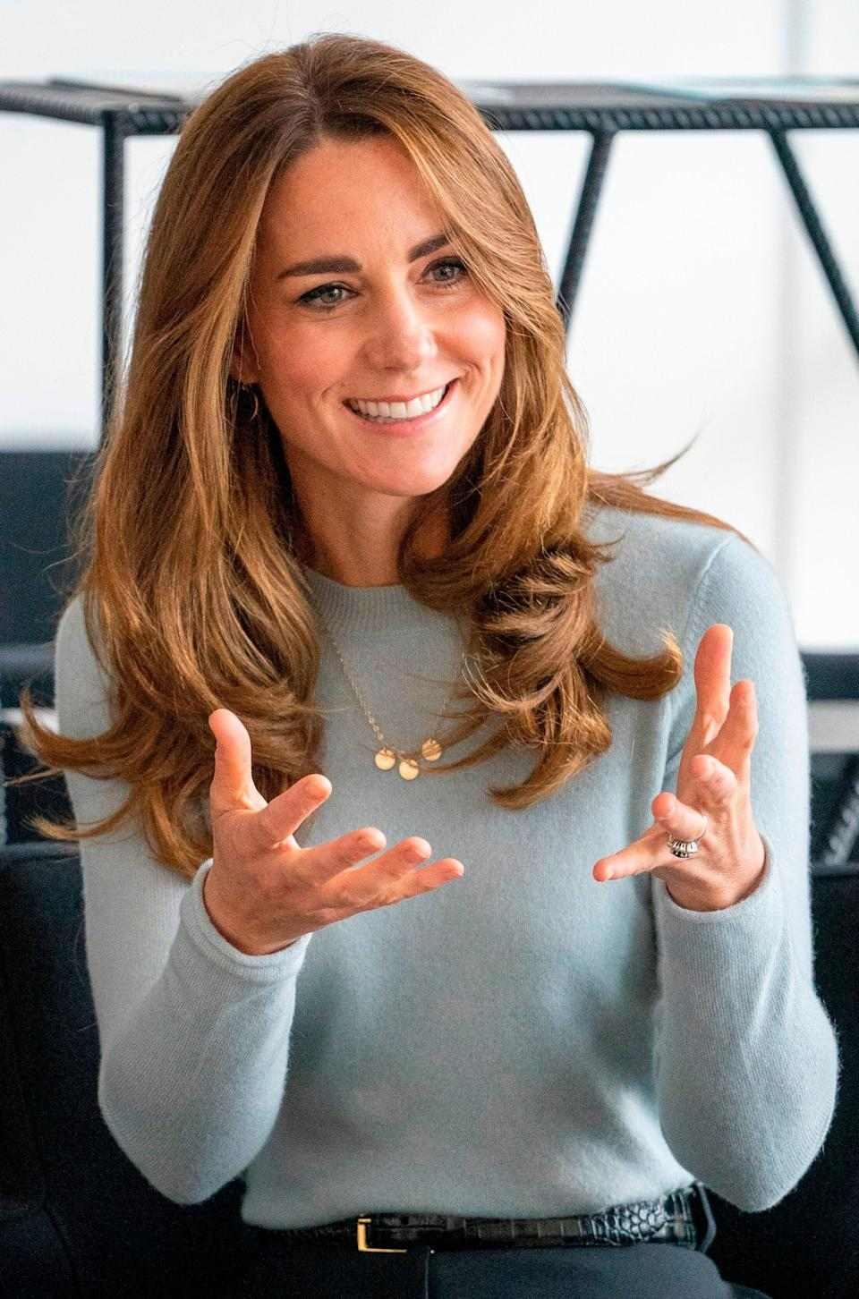 The Duchess of Cambridge during a visit to the University of Derby in Derby, England, on Oct. 6. (Photo: ARTHUR EDWARDS via Getty Images)