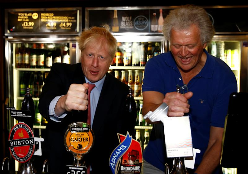 Boris Johnson and JD Wetherspoon chairman Tim Martin
