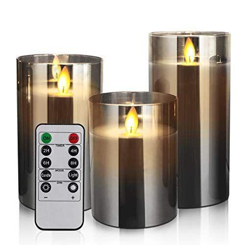 """<p><strong>Yinuo Candle</strong></p><p>amazon.com</p><p><a href=""""https://www.amazon.com/dp/B08CVSRW3S?tag=syn-yahoo-20&ascsubtag=%5Bartid%7C10049.g.35084813%5Bsrc%7Cyahoo-us"""" rel=""""nofollow noopener"""" target=""""_blank"""" data-ylk=""""slk:Shop Now"""" class=""""link rapid-noclick-resp"""">Shop Now</a></p><p>This trio of battery-operated, smoke glass candles = mood vibes 24/7.</p>"""