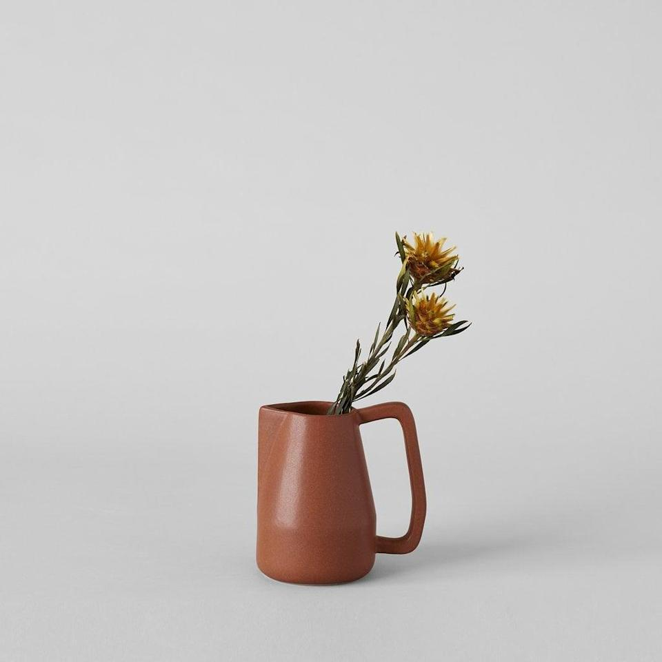 <p>You can use this <span>Brown Novah Pitcher</span> ($35) as a flower vase or an actual pitcher.</p>