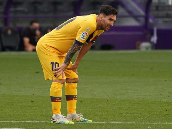 Messi has shouldered much of burden at Barcelona (AFP via Getty Images)