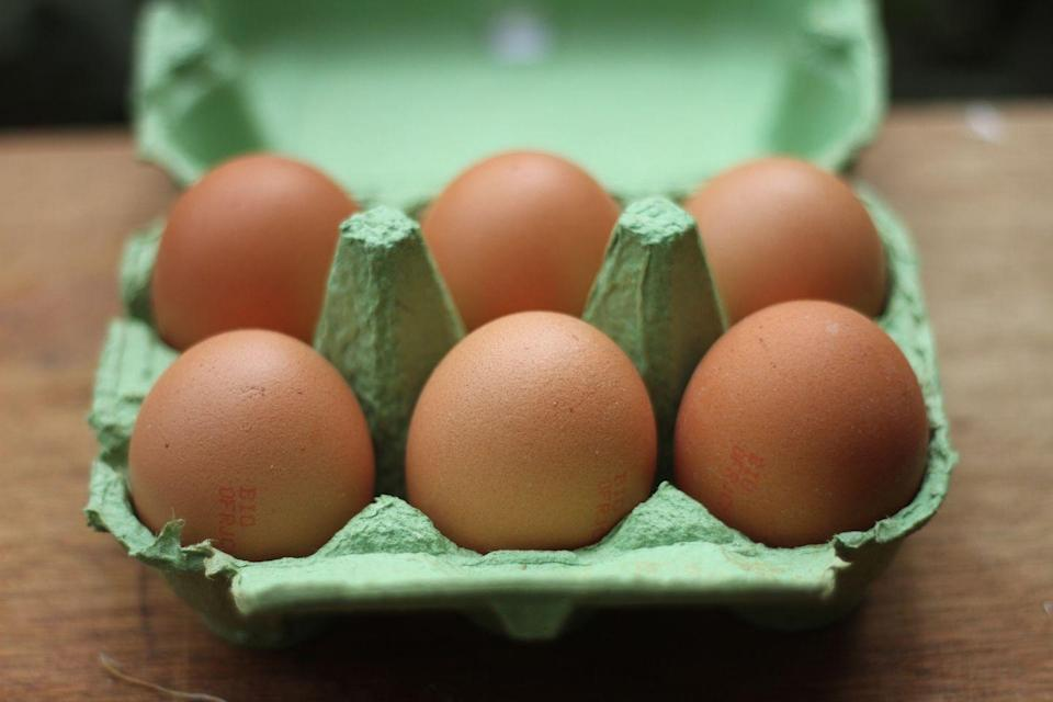 <p>The gooey inside of raw whole eggs will expand when frozen, causing a cracked and leaky mess in your freezer. Not to mention the potential for bacteria growth. Unfortunately, even cooked eggs aren't a good idea either. Same goes for egg-based items like mayo and meringue.</p>