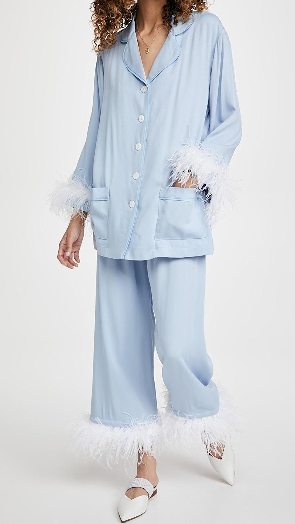 <p>As well as this <span>Sleeper Cornflower Party Pajama Set</span> ($320). I love this fresh color mix.</p>