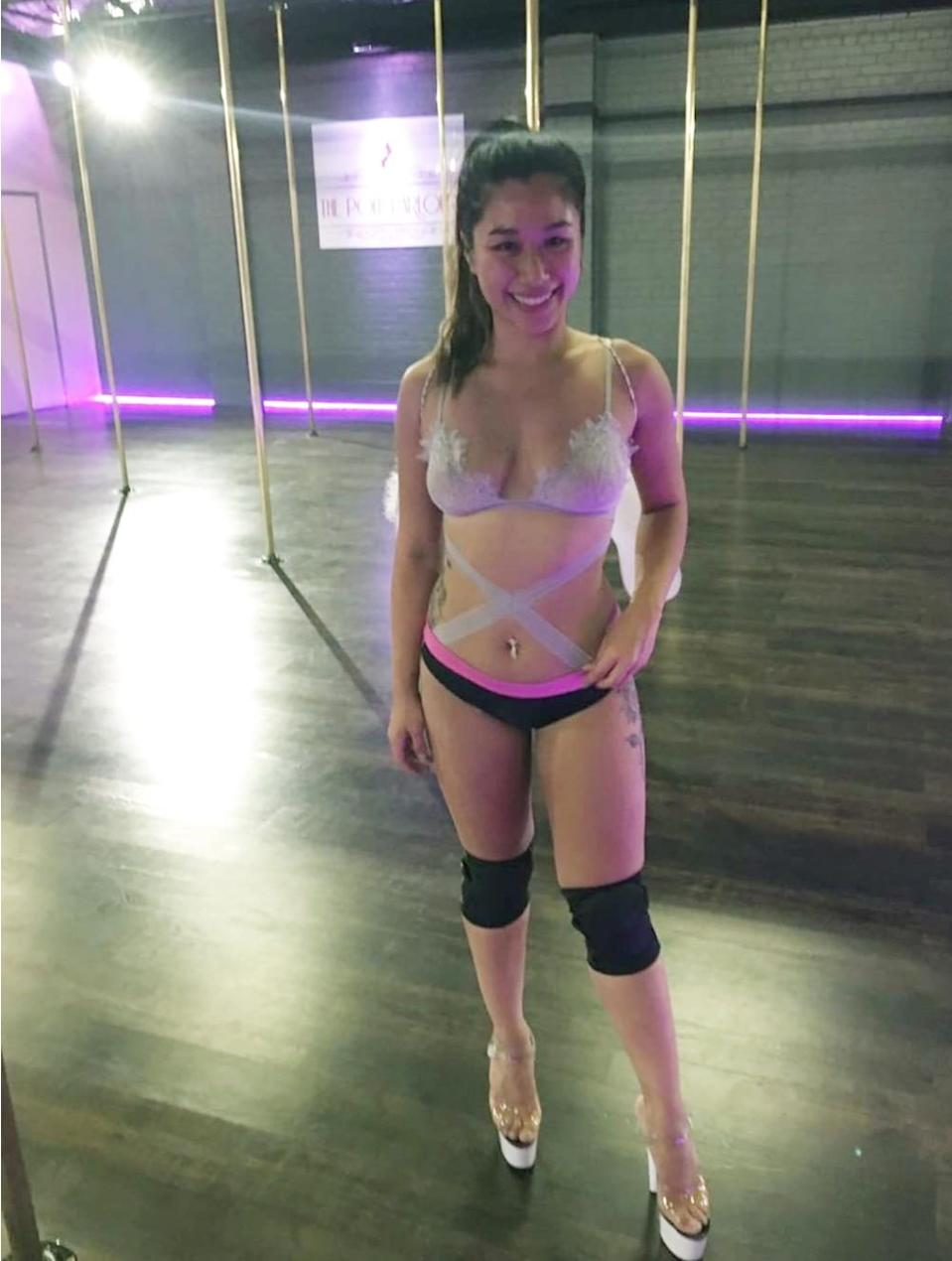 Dee Nguyen, the 21-year-old pole dancer from Sydney, is one of the new recruits in 'Geordie Shore'. She leads a double life. Source: Supplied
