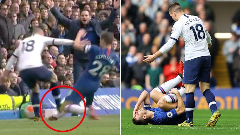 Officials have admitted Giovani Lo Celso should have been red-carded for the tackle on Cesar Azpilicueta.