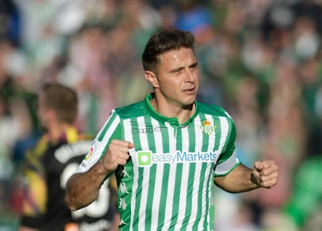 Joaquin became La Liga's oldest scorer of a hat-trick on Sunday as Real Betis beat Athletic Bilbao (AFP Photo/CRISTINA QUICLER)