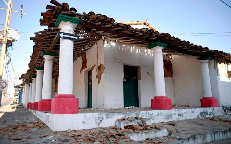 An earthquake on Friday damaged buildings in the state of Oaxaca - AFP