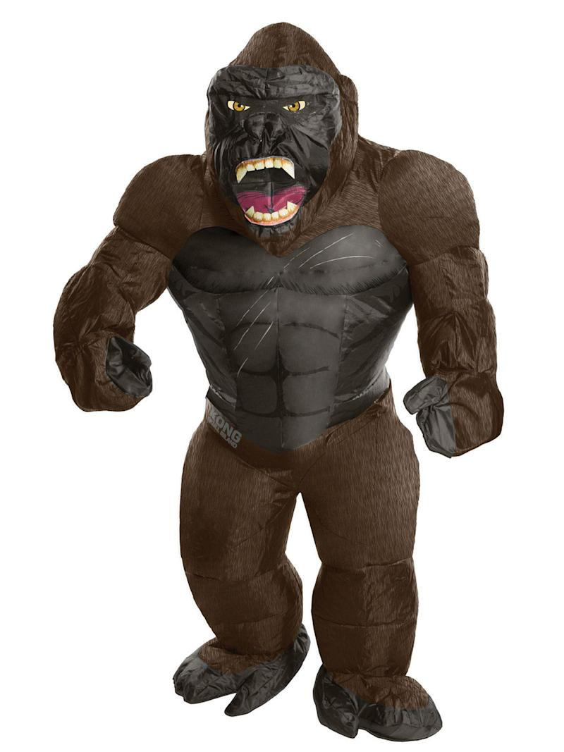 """Sure, everyone loves a gorilla costume, but they can get so hot. This <a href=""""https://www.costumesupercenter.com/products/king-kong-inflatable-adult"""" target=""""_blank"""">King Kong costume</a> stays inflated with a mini-fan and can provide a cushion should you fall off a couch,or the Empire State Building."""