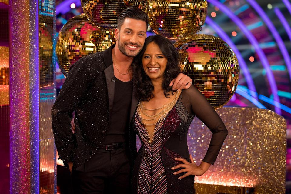 Giovanni Pernice and Ranvir Singh (Photo: BBC/Guy Levy)