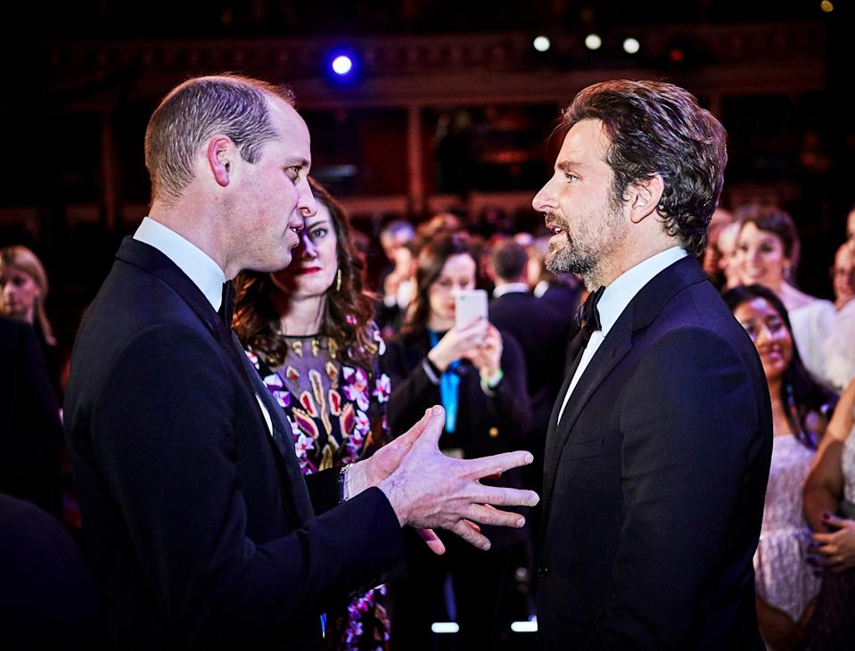 Bradley Cooper Makes Prince William Laugh After Royal Tells Him: 'I Didn't Know You Could Sing!'