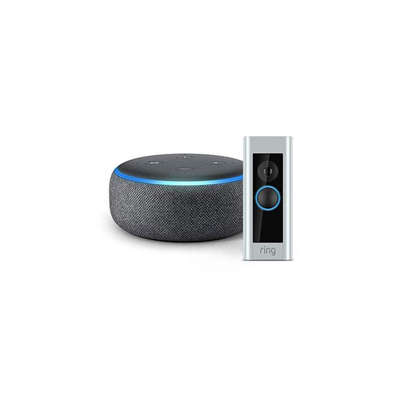 Ring Video Doorbell Pro with Echo Dot (3rd Gen) Charcoal Fabric Bundle