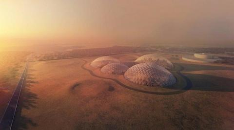 A rendering of the UAE's planned Mars Science City complex - Credit: Dubai Media Office