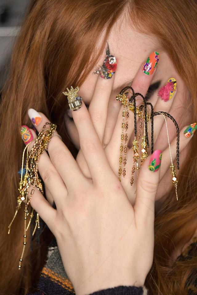<p>Another hot manicure creation by the CND team. (Photo: Getty Images) </p>