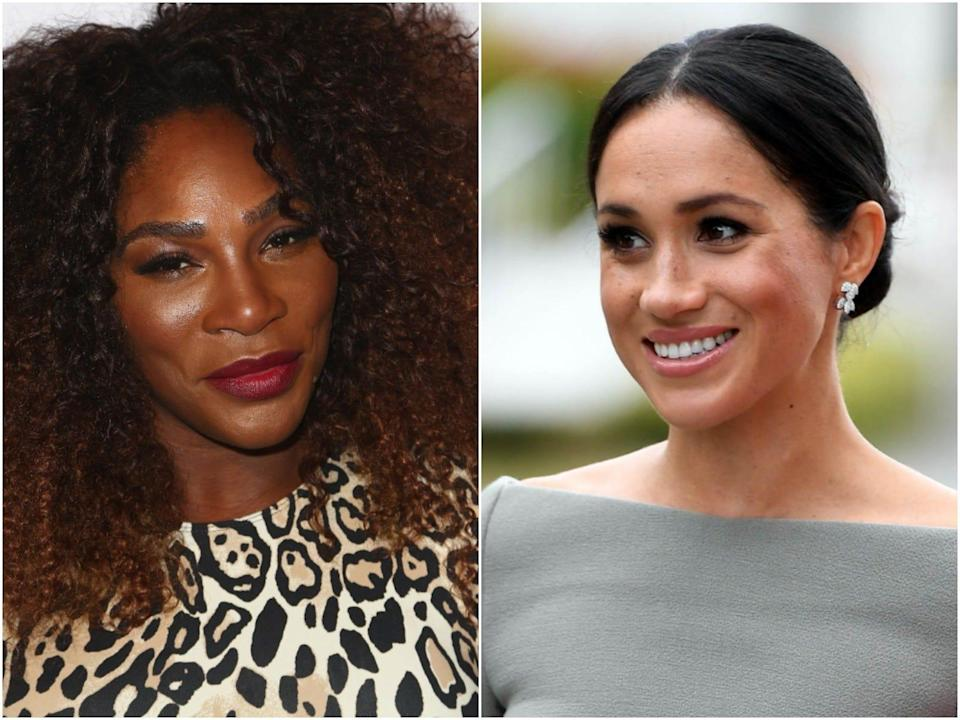 Meghan Markle and Serena Williams.