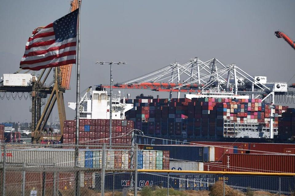 A shipping bottleneck at the LA port has led to supply chain issues (AFP via Getty Images)