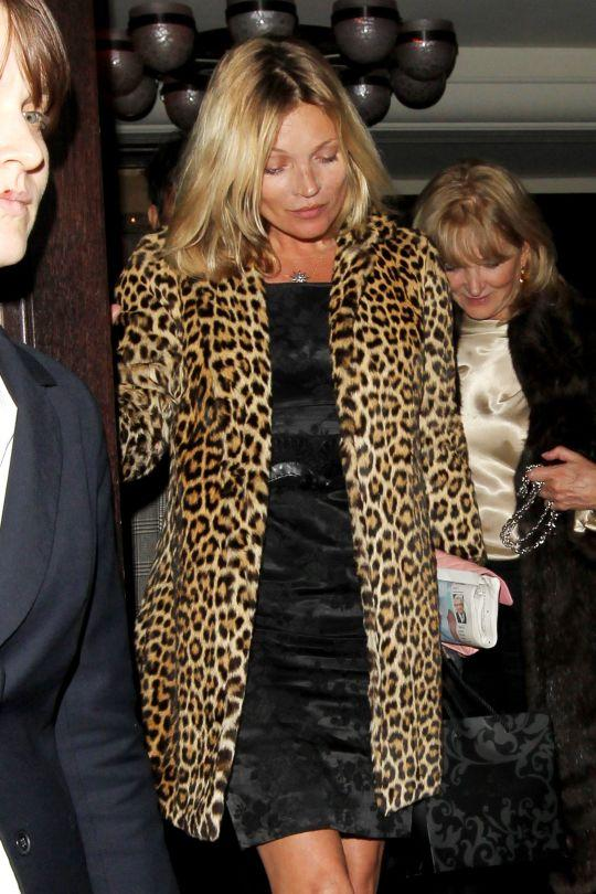 <p>The British supermodel donned her go-to cheetah print coat while in Mammoth with a select group of friends in honor of the big birthday. <br /></p>