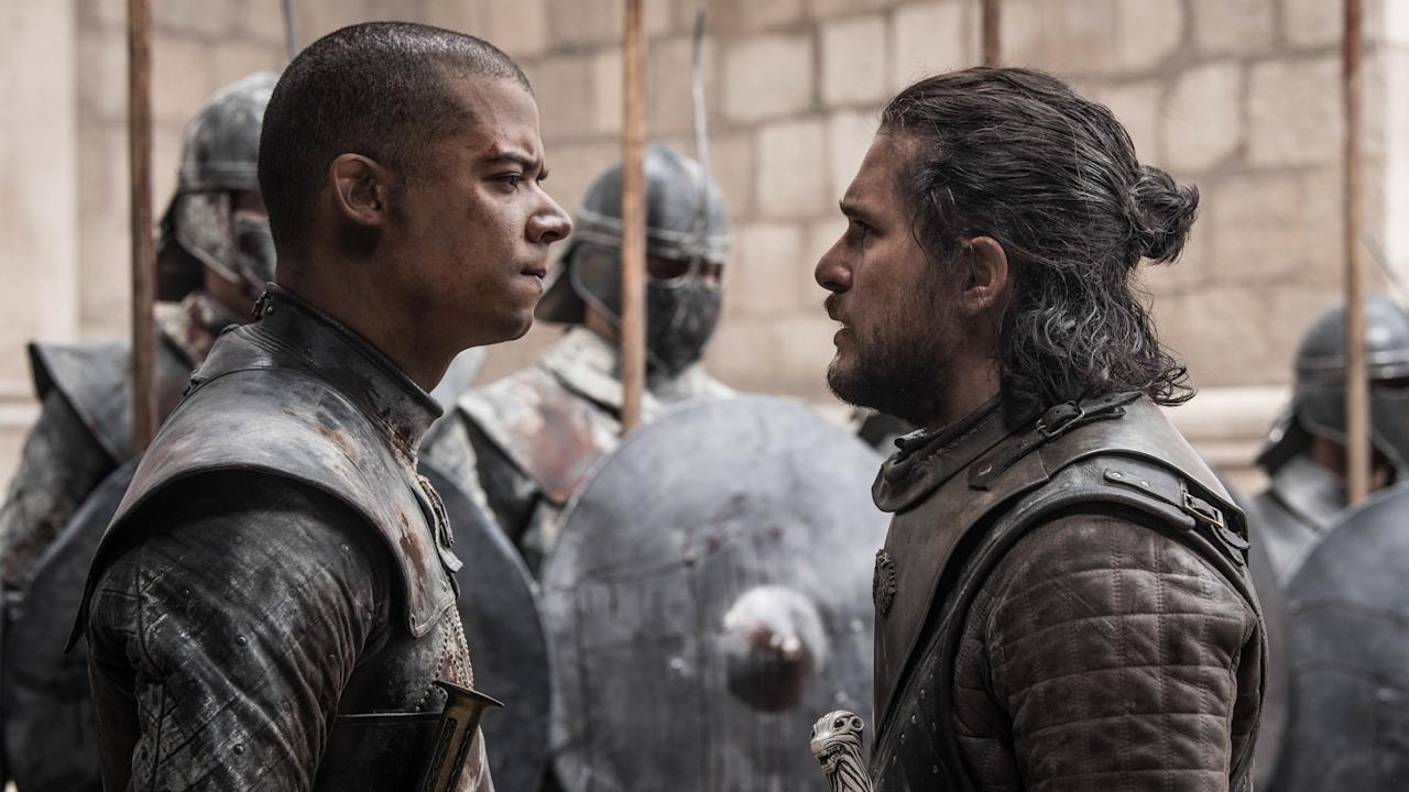"""After an eight-year saga of unrivaled cliff-hangers, plot twists, and Red Weddings, <a href=""""https://www.glamour.com/story/game-of-thrones-finale-plot-holes?mbid=synd_yahoo_rss""""><em>Game of Thr</em>ones</a> came to an end in 2019 to mixed reviews—and downright ire. While the world waits for the final installation of the <em>Song of Fire and Ice</em> series, HBO had a sneak peak into what author George R. R. Martin had in mind for the characters so the show could craft its <a href=""""https://www.glamour.com/story/game-of-thrones-cast-backlash?mbid=synd_yahoo_rss"""">ending;</a> however, it's rumored that the conclusion of the literary version will be very different from the show's. You can decipher the finale for yourself by streaming it on <a href=""""https://fave.co/2Pq9iGo"""" rel=""""nofollow"""" target=""""_blank"""">HBO</a> or the <a href=""""https://apps.apple.com/us/app/hbo-go-stream-with-tv-package/id429775439"""" rel=""""nofollow"""" target=""""_blank"""">HBO Go app</a>."""