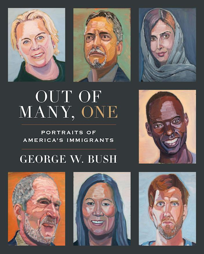 """""""Out of Many, One: Portraits of America's Immigrants"""" includes 43 portraits by the 43rd president, four-color paintings of immigrants he has come to know over the years"""