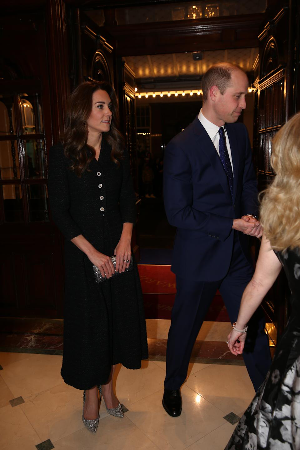 The Duke and Duchess of Cambridge attend a special performance of Dear Evan Hansen, at the Noel Coward Theatre in London.