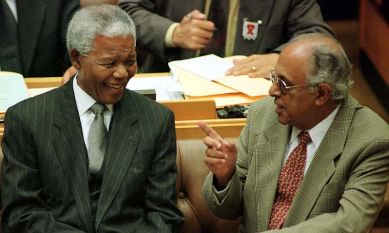 Ahmed Kathrada, right, and Nelson Mandela turned the tables on their prosecutors.