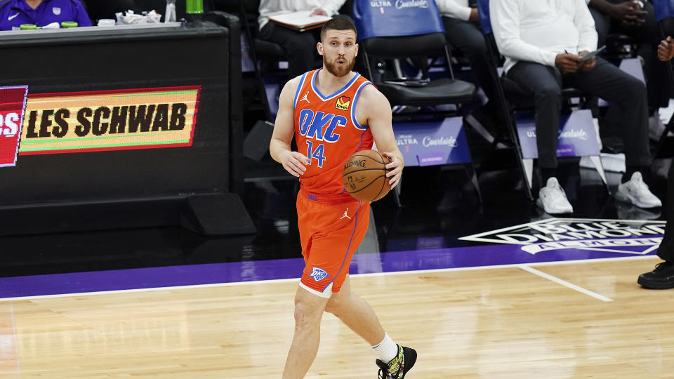 Svi Mykhailiuk is joining the Raptors. (Photo by Ben Green/Getty Images)