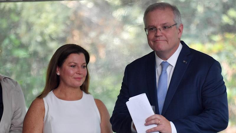 PM Scott Morrison and wife Jenny were present at the Australian of the Year finalists morning tea