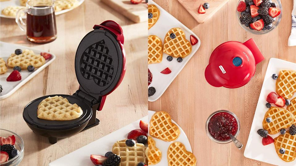 Best Valentine's Day gifts: Dash Heart Mini Waffle Maker