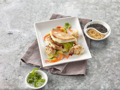 Chef Chris Cheung, award-winning restaurateur from New York City's Chinatown and chef/owner of East Wind Snack Shop in Soho, created the nontraditional Turkey Burger Spring Roll — featuring a homemade ground-turkey-filled spring roll in a bao bun.