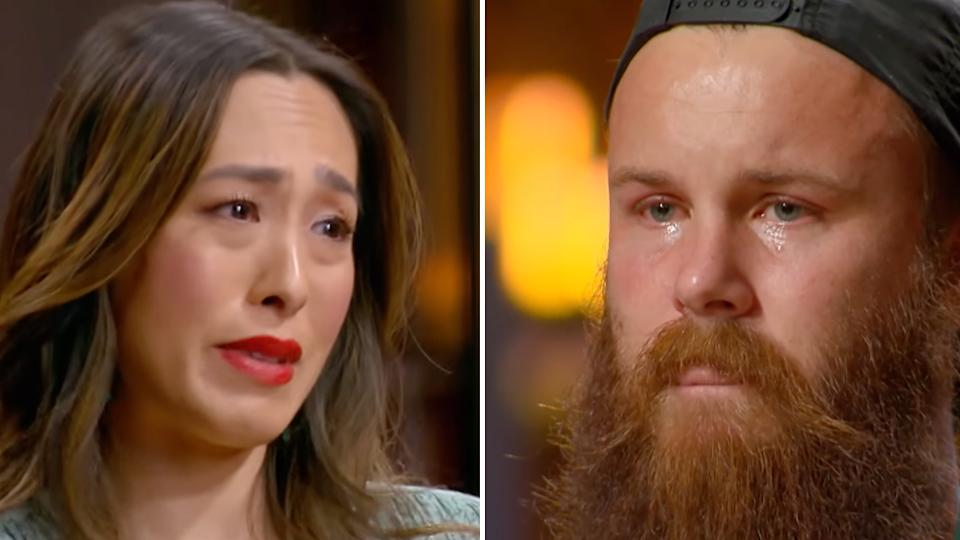 MasterChef judge Melissa Leong was in tears after learning that contestant Brent Draper was quitting the show