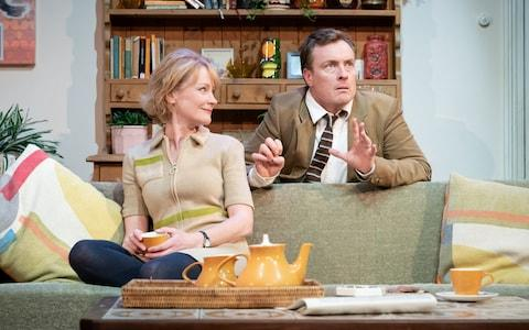 Claire Skinner and Toby Stephens in A Day in the Death of Joe Egg - Credit: Marc Brenner