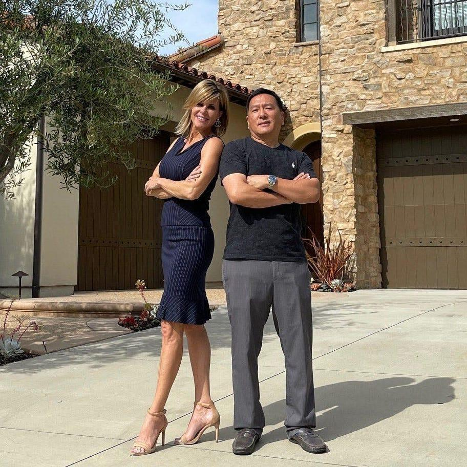 Real estate agent JoJo Romeo and her client Edward Li