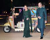 <p>Prince William had a serious fashion moment on the trip, wearing a traditional sherwani in the country's color. </p>