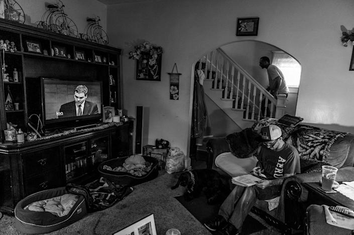 <p>Larry Fugate is a recovering heroin addict at home in Middletown, Ohio. HIs mom Terri Fugate resuscitated him after an overdose five months ago, upstairs in his room. He is applying for jobs at AK Steel. (Photograph by Mary F. Calvert for Yahoo News) </p>